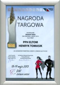 Dyplom nagroda dla ZY-H103