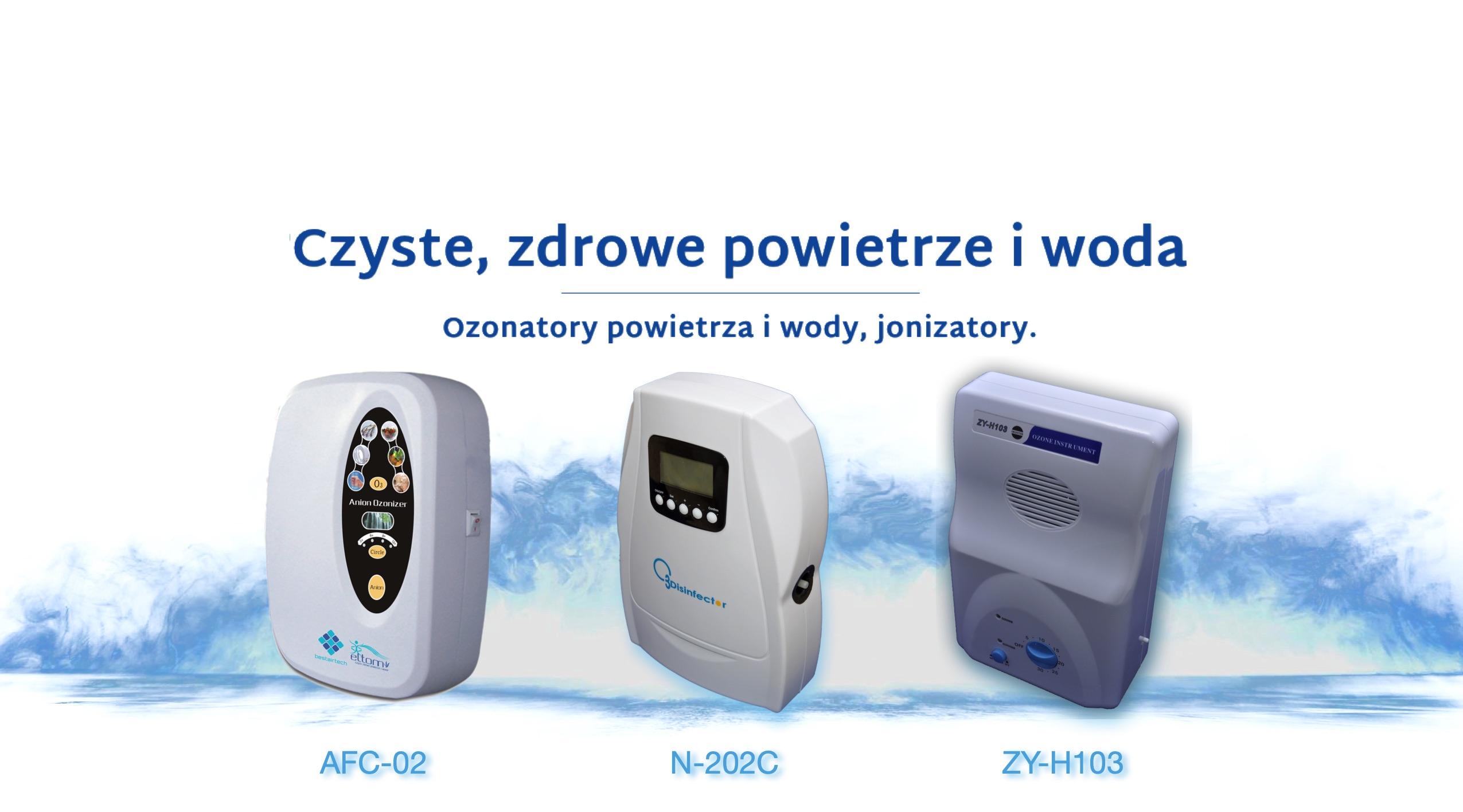 ozonatory i jonizacja powietrza